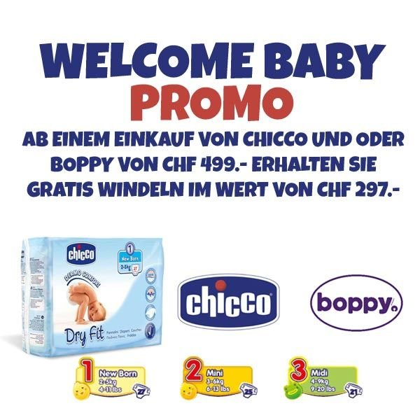 Chicco und Boppy Windel Promo